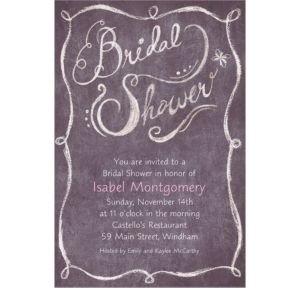 Custom Chalkboard Bridal Shower Invitations