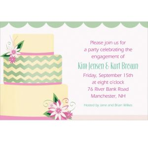 Custom Modern Wedding Cake Wedding Invitations