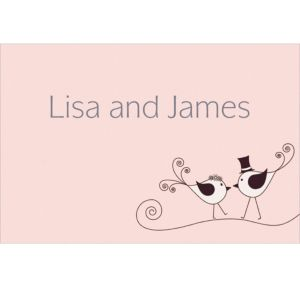 Custom Love Birds Wedding Thank You Notes