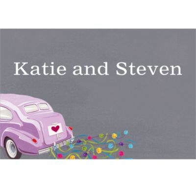 Custom Just Wed Buggy Wedding Thank You Notes