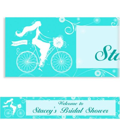 Custom Chapel Bicycle Bridal Shower Banner 6ft