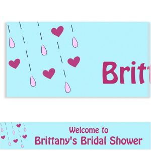 Custom It's Raining Love Bridal Shower Banner 6ft