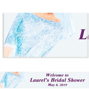 Custom Watercolor Bride Bridal Shower Banner 6ft