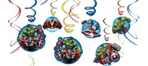 Avengers Swirl Decorations 12ct