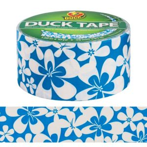 Blue Hibiscus Duck Tape