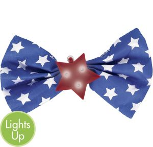 Light-Up Patriotic Bow Tie