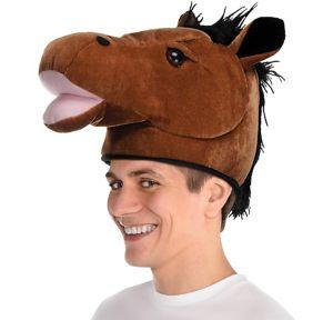 Plush Horse Head Hat