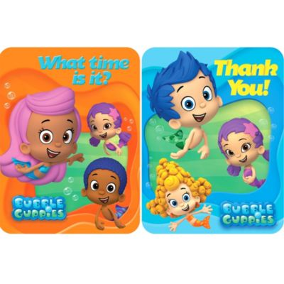 Bubble Guppies Invitations & Thank You Notes for 8