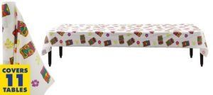 Tropical Tiki Plastic Table Cover Roll