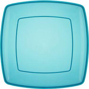 Caribbean Blue Plastic Square Platter