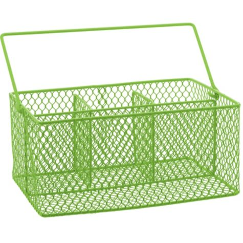 Party Utensil Caddy Kiwi Green Wire Utensil Caddy
