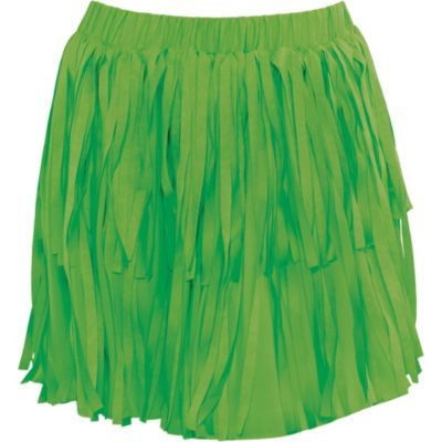 Green Fringe Luau Skirt