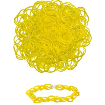 Yellow Rubber Loom Bands 300ct