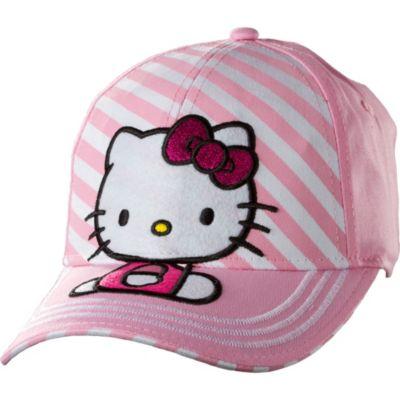 Child Pink Stripe Hello Kitty Baseball Hat