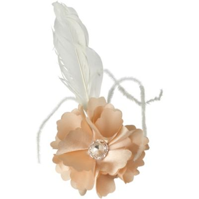 Vintage Pearl Satin Flower Hair Clip