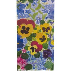 Pansy Garden Premium Guest Towels 16ct