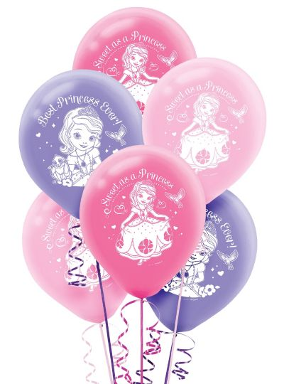 Sofia the First Balloons 6ct