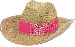 Paisley Straw Cowboy Hat