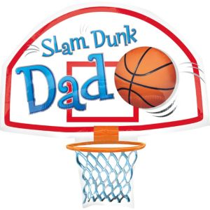 Foil Slam Dunk Dad Balloon 35in