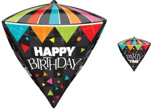 Diamondz Party Time Birthday Balloon 17in