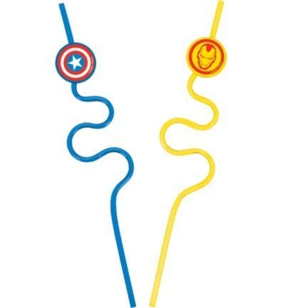 Avengers Krazy Straws 2ct