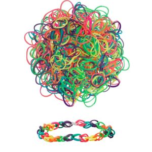 Neon Rubber Loom Bands 300ct