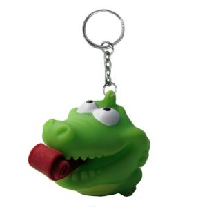 Tongue Pop Squeeze Alligator Keychain