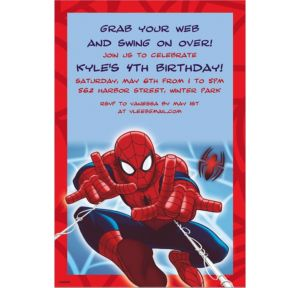Custom Ultimate Spider-Man Invitations