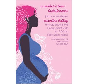 Custom Earth Mama Girl Invitations