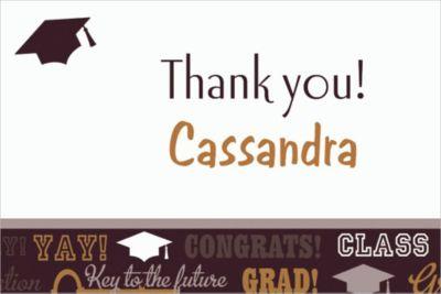 Custom Key To Success Graduation Thank You Notes