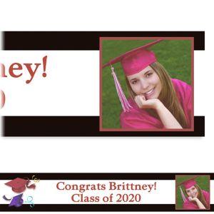 Custom School's Out Graduation Photo Banner 6ft