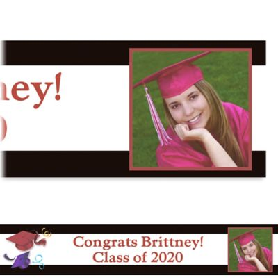 Custom School's Out Graduation Photo Banner 6ft