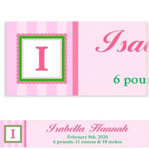 Custom Jumbo Initial Girl Banner