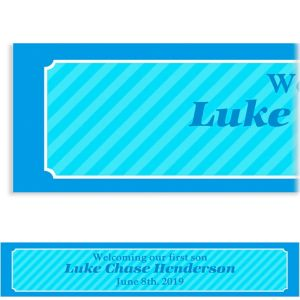 Custom Sweet Photo Collage Boy Banner