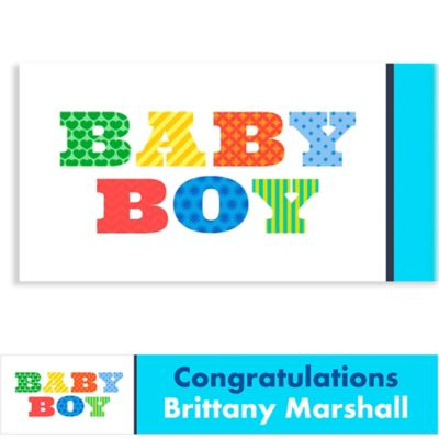 Custom Big Baby Boy Baby Shower Banner 6ft