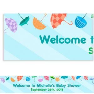 Custom Umbrella Baby Shower Banner 6ft
