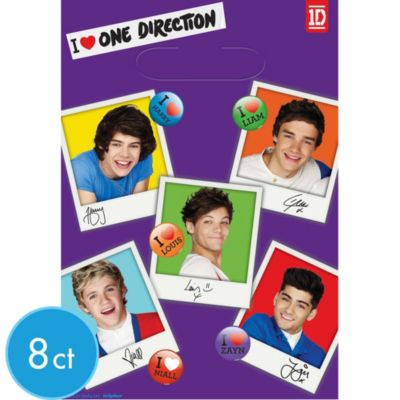 One Direction Favor Bags 8ct