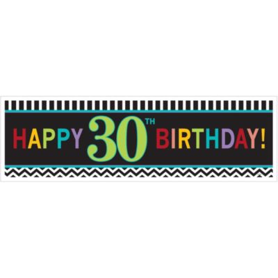 Celebrate 30th Birthday Banner 65in
