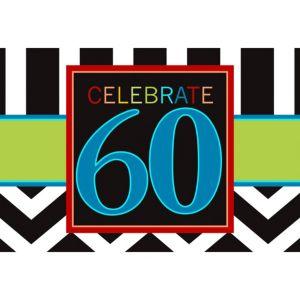 Celebrate 60th Birthday Invitations 8ct
