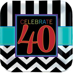 Celebrate 40th Birthday Lunch Plates 8ct