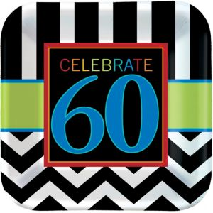 Celebrate 60th Birthday Lunch Plates 8ct