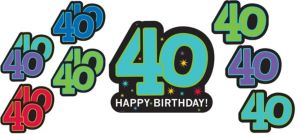 The Party Continues 40th Birthday Cutouts 12ct