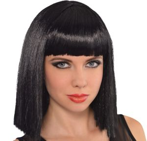 Cleopatra Long Blunt Bob Wig with Bangs