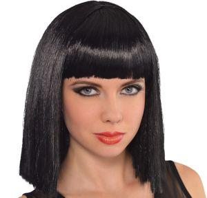 Cleopatra Long Blunt Bob Wig with Bangs