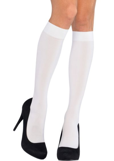 Adult White Knee-High Stockings
