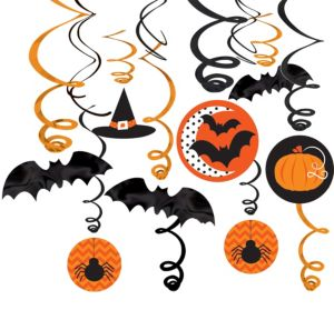 Modern Halloween Swirl Decorations 30ct