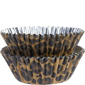 Leopard Foil Baking Cups 36ct