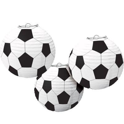 Soccer Paper Lanterns 3ct