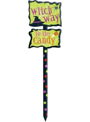 Glitter Witch Way Yard Stake