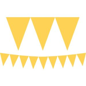 Sunshine Yellow Pennant Banner